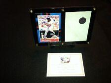 Kirby Puckett Card Display & Game Used Metrodome Roof Piece Minnesota Twins MLB