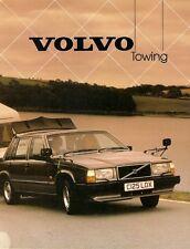 Volvo Towing 1985-86 UK Market Sales Brochure 340 360 240 740 760