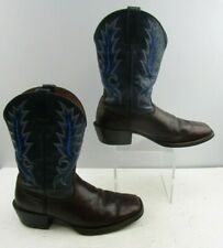 Men's Ariat Brown/ Blue Leather Work Boots Size : 9.5 D