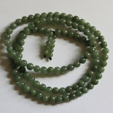 Genuine 100% Natural (Grade A) Untreated Oily Green Jadeite JADE Necklace 29""