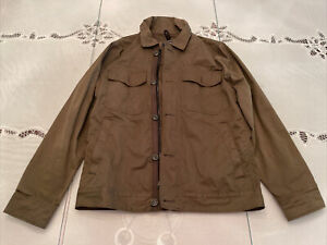 Abercrombie & Fitch Olive Green Zip-Up Button Jacket Mens XS Rarely Used!