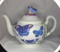 "Burton & Burton Nimble Flight w/Butterflies Teapot Beautiful 6.5"" x 8.5"" x 5.5"""