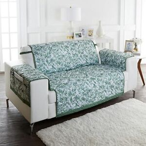 Improvements Reversible Loveseat Cover Protector ~ Green & Tropical
