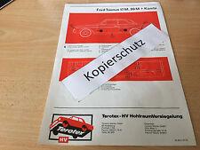Ford Taunus 17 M und 20 M P 5, Terotex Hohlraumversiegelungsplan