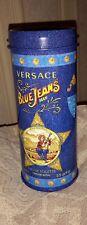 versace blue jeans storage tin