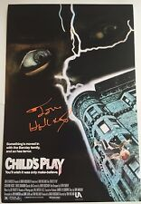 TOM HOLLAND SIGNED 12X18 CHILDS PLAY MOVIE POSTER PHOTO DIRECTOR CHUCKY COA