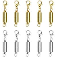 Magnetic Jewellery Clasp, 10 Silver-Toned / Gold Magnetic Lobster Clasps, N G7F3