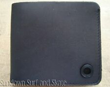 NWT MENS QUIKSILVER $45 ACUTE BLACK ALL LEATHER BI-FOLD WALLET NEW GIFT BOX