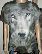 "Batik T -Shirt "" Wolf "" Großes Motiv- Grau Größe XL  NEU"