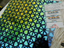 Dichroic Glass CBS 96 Coe Geodesic Pattern on Flat Black 3 SQ