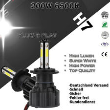 2X H7 LED 200W COB Scheinwerfer Hi-Lo Headlight Birnen 6500K Weiß Lampen IP68 AH