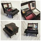 Vintage Japanese Red black lacquer box hand painted  piano musical jewellery E2