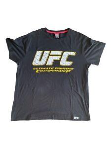 UFC Size 2XL Mens Black Ultimate Fighting Championship Short Sleeve Tee T Shirt