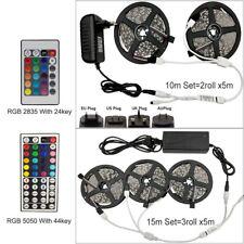 Fita De Led Luz Rgb 5050 Smd 2835 Rgb Fita flexível Listra 5M 10M 15M Kit De Fita