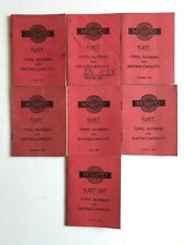 More details for midland red fleet list booklets x7 1954-1959 (free p&p)