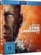 STIRB LANGSAM 1-5 (Bruce Willis) 5 Blu-ray Discs, Schuber NEU+OVP