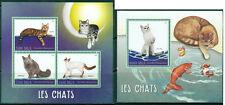 Cats Pets Fauna Domestic Animals Katze Madagascar MNH stamp set