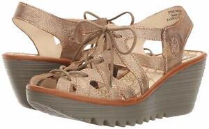 Fly London Women's YAPI Leather Lace-Up Wedge Sandal ( EU 42 / US 10.5-11 )