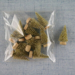 24/12 Pcs Christmas Tree Fake Pine Sisal Bottle Brush Snow Frost Xmas Trees Gift