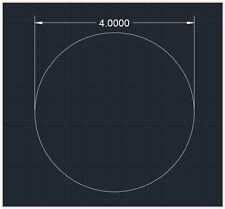 "1pc Acrylic Plastic (plexiglass)  Round  Sheet  - 1/8"" x 4""  Circle  -  Clear"