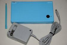 Nintendo DSi Launch Edition Light Blue Handheld System Game Console TWLSUBA Mint