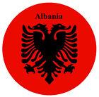 Albania Bandera - Redondo RECUERDO Imán de NEVERA - NUEVO - Regalo