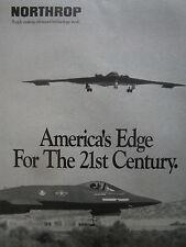 1/1991 PUB NORTHROP STEALTH B-2 BOMBER BOMBARDIER FURTIF YF-23 ATF FIGHTER AD