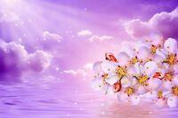 "perfect 36x24 oil painting handpainted on canvas ""flowers,sea,sky""@N3837"