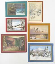 Lot of 6 1972 Nra Christmas New Year Card Collection Holiday Cards Images