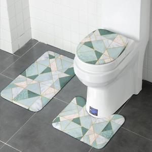 Thick Flannel Bathroom Bath Mat Set Toilet RugsU Shape Floor Carpets Toilet Foot