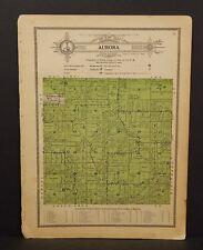 Wisconsin Waushara County Map Aurora Township 1914 W10#12