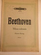 Beethoven - MISSA SOLEMNIS , Klavierauszug von Kurt Soldan
