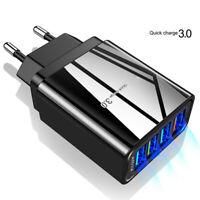 4 Ports QC3.0 Fast Quick Charge USB Hub Wall Charger Power Adapter US EU UK Plug