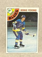 1978 Topps #143 Bernie Federko RC Rookie Card Blues