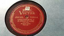 RUDOLPH GANTZ LISZT LIEBESTRAUM NO 3 & CHOPIN VALSE BRILLIANT VICTOR 7290