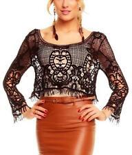 Damenblusen, - tops & -shirts aus Baumwolle mit Spitze in Größe 38