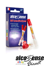 AlcoSense NF Approved Breathalyser for France Disposable French TWIN PACK 08/19