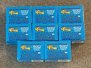 (1) 1990 Classic WWF Series 1 Factory Sealed Set 1-145 Hogan Savage Warrior WWE