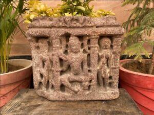 1400's Ancient Sandstone Hindu Deity God Shiva Rare Sculpture Statue Figure