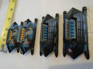"""RARE HUGE LOT MICRO MACHINES IX-529 STEALTH HYDROFOIL BOATS W OPENING SILOS 2.5"""""""