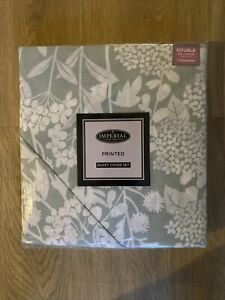Imperial Sage Wildflower Double Bed Duvet Cover Set