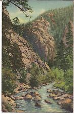 Depths of Boulder Canon Nenerland Glacier Circle COLORADO Postcard CO Linen 1944