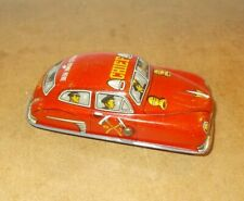 Vintage tin toy - CRAGSTAN Japan - FIRE DEPT CHIEF CAR press down action - 50s