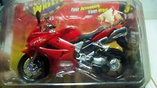 Maisto Adventure Wheels 1:18 HONDA VFR Motorcycle Red Never been open