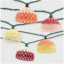 10ct Textured Open Hood Outdoor String Lights Multi-Colored – Opalhouse™