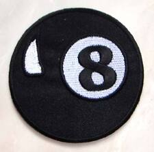 Eight 8 Ball Billiards Pool Embroidered Iron on Patch Free Shipping