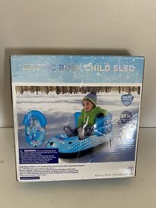 H2OGO! ARCTIC RUSH Inflatable Child Snow Sled Polar Shield 33 inches Long