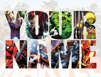 Personalised Marvel Wall decal stickers Kids Avengers Name Gift Xmas *3 SIZES*
