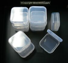 10 Bead storage fishing sewing craft bead containers storage hinged lids Cr004