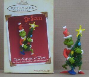 "Hallmark 2005 Keepsake Ornament ""Tree Napper At Work"" The Grinch, Dr. Seuss"